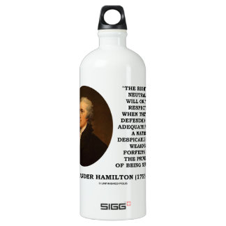 Alexander Hamilton Rights Of Neutrality Power Water Bottle