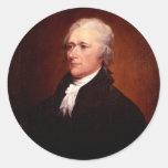 Alexander Hamilton Round Stickers