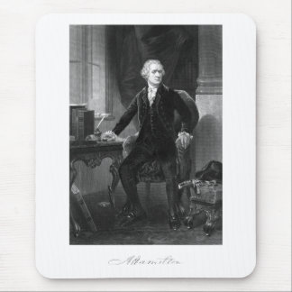 Alexander Hamilton Sitting At His Desk Mouse Pad
