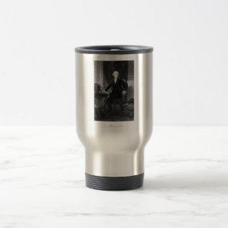 Alexander Hamilton Sitting At His Desk Travel Mug