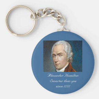 Alexander Hamilton Smarter than you color keychain
