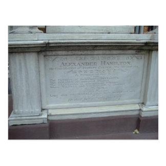 ALEXANDER HAMILTON'S GRAVE POSTCARD