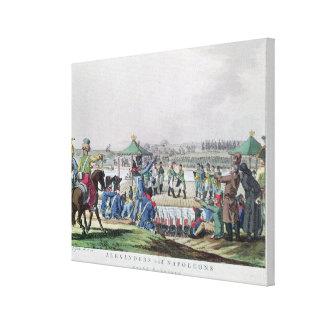Alexander I  and Napoleon Canvas Print