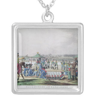 Alexander I  and Napoleon Silver Plated Necklace