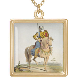 Alexander II, King of Scotland (1198-1249) 1214, f Square Pendant Necklace