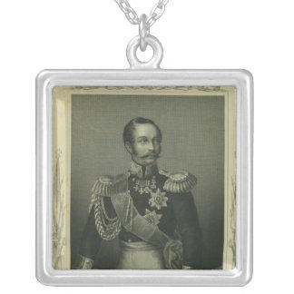 Alexander II  of Russia Silver Plated Necklace