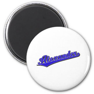 Alexander in Blue 2 Inch Round Magnet