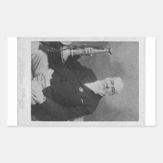 Alexander Joy Cartwright, Jr. Inventor of Baseball Rectangular Sticker