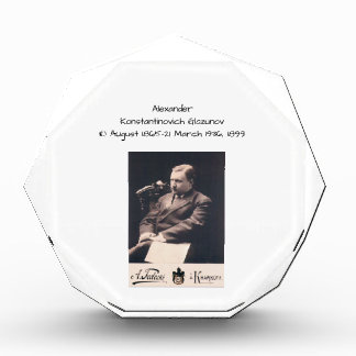 Alexander Konstantinovich Glazunov 1899 Acrylic Award