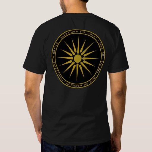 Alexander la gran camisa macedónica del negro y