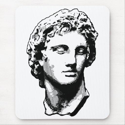 Alexander la gran estatua tapete de raton