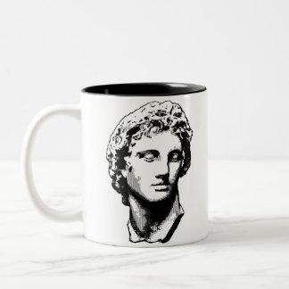 Alexander la gran estatua taza de café de dos colores