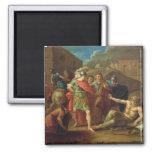 Alexander las grandes visitas Diógenes en Corinto Imán Cuadrado