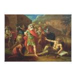 Alexander las grandes visitas Diógenes en Corinto Lona Estirada Galerias