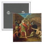 Alexander las grandes visitas Diógenes en Corinto Pin Cuadrado