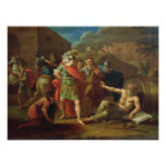 Alexander las grandes visitas Diógenes en Corinto Póster