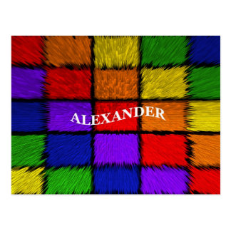 ALEXANDER (male names) Postcard