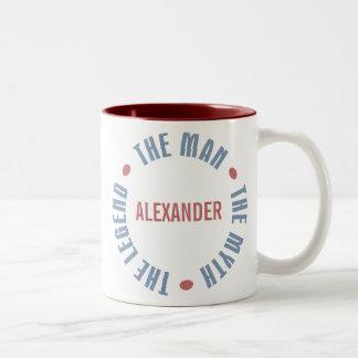 Alexander Man Myth Legend Customizable Two-Tone Coffee Mug