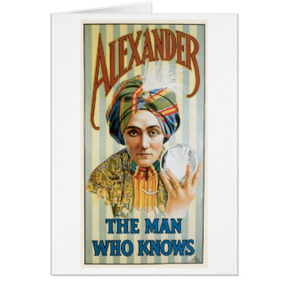 Alexander ~ Mentalist Physic Vintage Magic Act Greeting Card