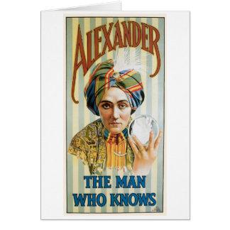 Alexander ~ Mentalist Physic Vintage Magic Act Card