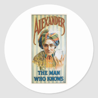 Alexander ~ Mentalist Physic Vintage Magic Act Sticker