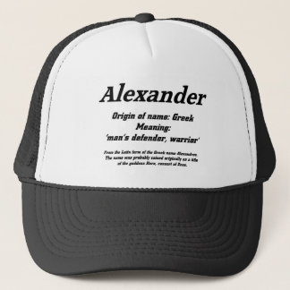 Alexander. Name meaning Cap