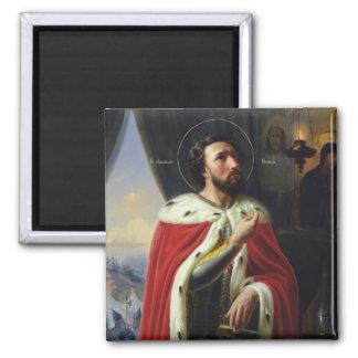 Alexander Nevsky, Duke of Novgorod 2 Inch Square Magnet