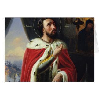 Alexander Nevsky, duque de Novgorod Tarjeta De Felicitación