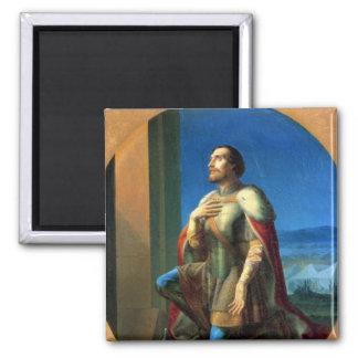 Alexander Nevsky Prince of Novgorod 2 Inch Square Magnet