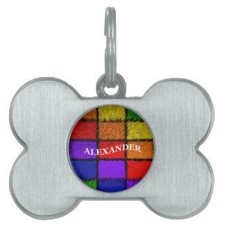 ALEXANDER (nombres masculinos) Placas De Nombre De Mascota
