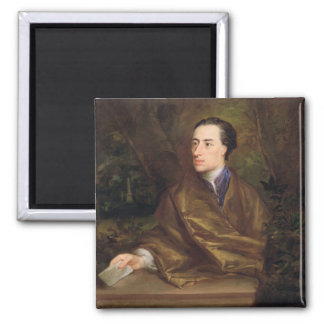 Alexander Pope (1688-1744) 1738 (oil on canvas) 2 Inch Square Magnet