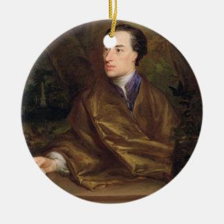 Alexander Pope (1688-1744) 1738 (oil on canvas) Ceramic Ornament