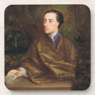 Alexander Pope (1688-1744) 1738 (oil on canvas) Drink Coaster