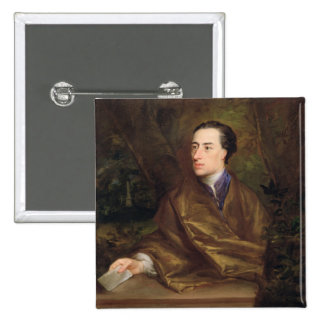 Alexander Pope (1688-1744) 1738 (oil on canvas) Pinback Button