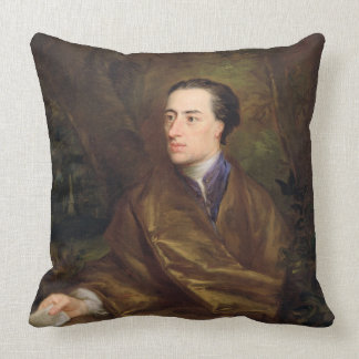 Alexander Pope (1688-1744) 1738 (oil on canvas) Throw Pillow