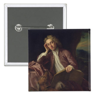 Alexander Pope and his dog, Bounce, c.1718 Pinback Button