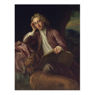 Alexander Pope and his dog, Bounce, c.1718 Postcard