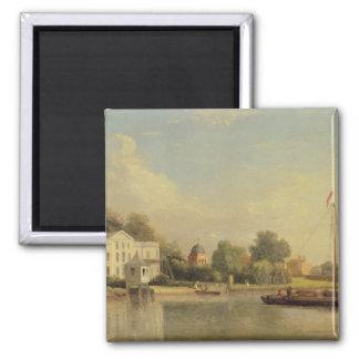Alexander Pope's (1688-1744) Villa, Twickenham, c. 2 Inch Square Magnet