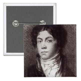 Alexander Pushkin 2 Inch Square Button
