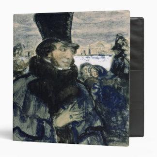 "Alexander Pushkin en el terraplén de Neva Carpeta 1 1/2"""