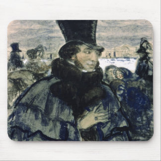 Alexander Pushkin  on the Neva Embankment Mouse Pad
