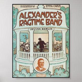 Alexander s Ragtime Band Vintage Songbook Cover Print
