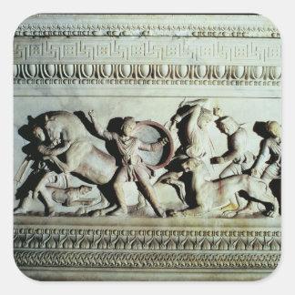 Alexander Sarcophagus Square Sticker