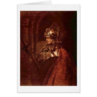 Alexander The Great By Rembrandt Van Rijn Greeting Card