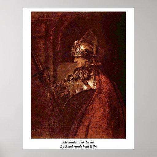 Alexander The Great By Rembrandt Van Rijn Poster
