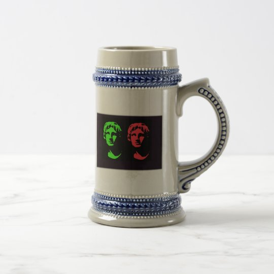 Alexander the Great Collage Beer Stein