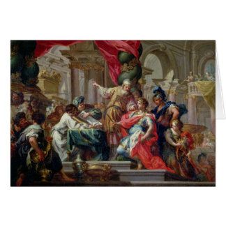 Alexander the Great in the Temple of Jerusalem Card