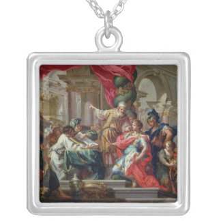 Alexander the Great in the Temple of Jerusalem Silver Plated Necklace