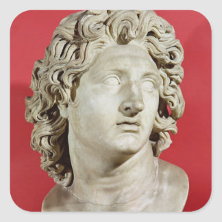Alexander the Great  King of Macedonia Square Sticker