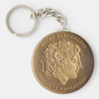 Alexander the Great, king of Macedonians Keychain